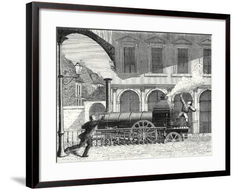 Lucky Discovery of the Presence of Electricty in Water Vapor--Framed Art Print