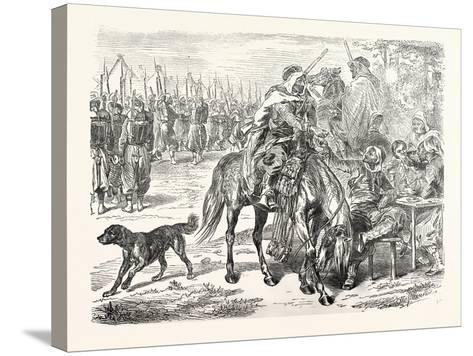 Franco-Prussian War: African Troops in the Camp of Chalons, France--Stretched Canvas Print