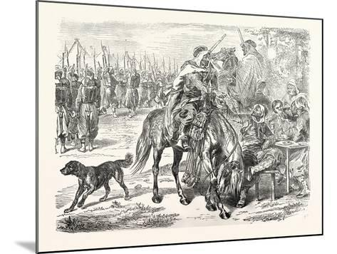 Franco-Prussian War: African Troops in the Camp of Chalons, France--Mounted Giclee Print