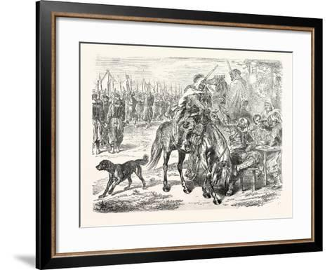Franco-Prussian War: African Troops in the Camp of Chalons, France--Framed Art Print