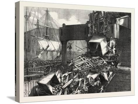 The Late Catastrophe on the Vale of Neath Railway at Swansea, UK, 1865--Stretched Canvas Print
