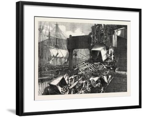 The Late Catastrophe on the Vale of Neath Railway at Swansea, UK, 1865--Framed Art Print