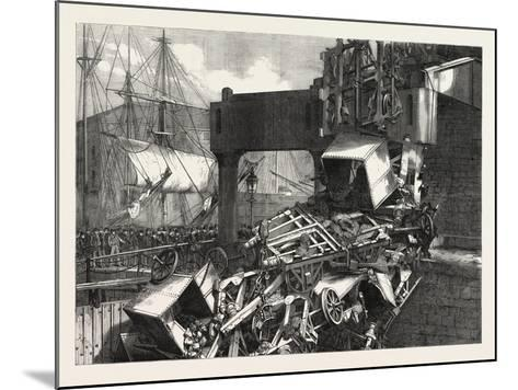 The Late Catastrophe on the Vale of Neath Railway at Swansea, UK, 1865--Mounted Giclee Print