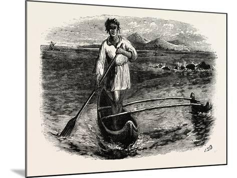 Our Boatman at Tahiti, French Polynesia, Southern Pacific Ocean--Mounted Giclee Print
