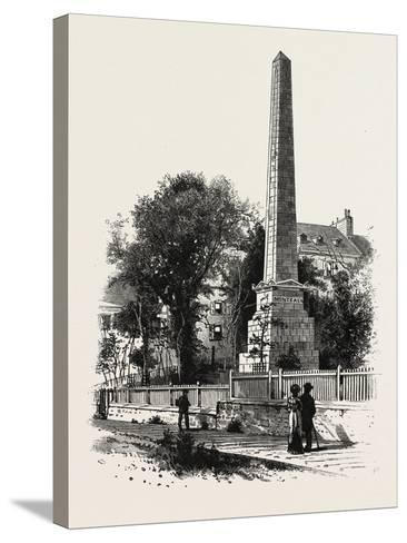 Monument to Wolfe and Montcalm., Canada, Nineteenth Century--Stretched Canvas Print