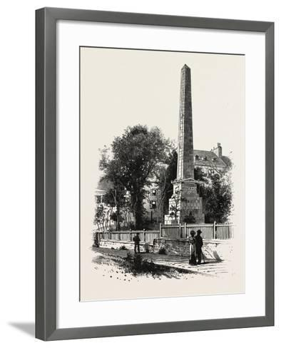 Monument to Wolfe and Montcalm., Canada, Nineteenth Century--Framed Art Print
