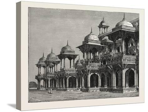 The Mausoleum of the Emperor Akbar, at Sikandra, a Suburb of Agra City--Stretched Canvas Print