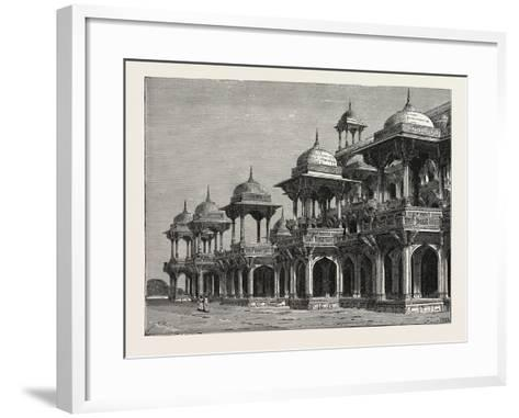 The Mausoleum of the Emperor Akbar, at Sikandra, a Suburb of Agra City--Framed Art Print