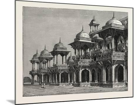 The Mausoleum of the Emperor Akbar, at Sikandra, a Suburb of Agra City--Mounted Giclee Print