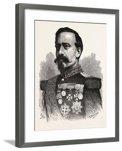 Franco-Prussian War: General Bourbaki, Commanding the Imperial Guard--Framed Art Print
