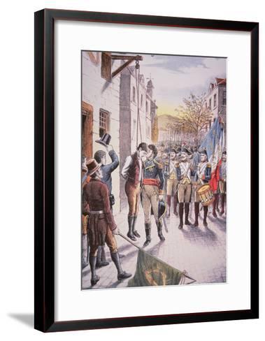 French General Jean Sarrazin Kisses Hanged Irish Rebel Patrick Walsh--Framed Art Print