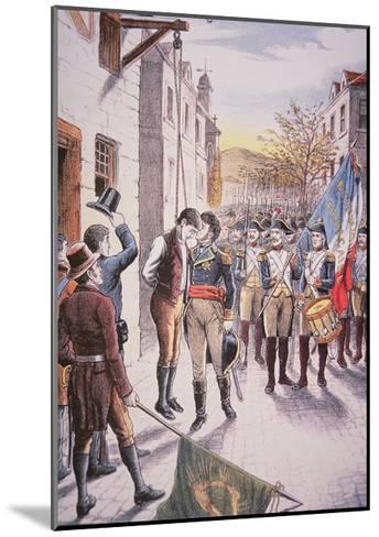French General Jean Sarrazin Kisses Hanged Irish Rebel Patrick Walsh--Mounted Giclee Print