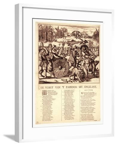 De Vlugt Van 't Pausdom Uit Engelant, Hooghe, Romeyn De, 1645-1708--Framed Art Print