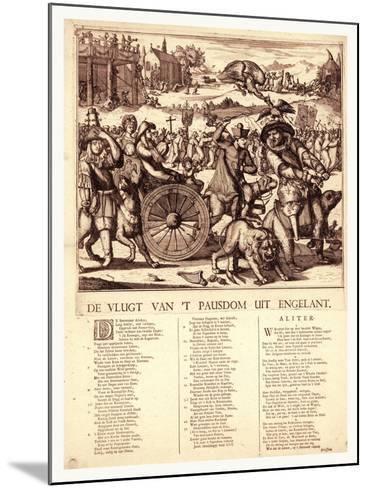 De Vlugt Van 't Pausdom Uit Engelant, Hooghe, Romeyn De, 1645-1708--Mounted Giclee Print