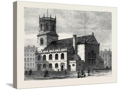 St. Peter's Church Liverpool the Cathedral of the New Diocese 1880--Stretched Canvas Print