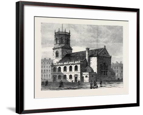 St. Peter's Church Liverpool the Cathedral of the New Diocese 1880--Framed Art Print