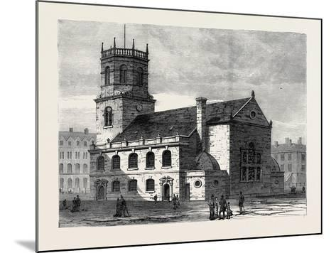 St. Peter's Church Liverpool the Cathedral of the New Diocese 1880--Mounted Giclee Print
