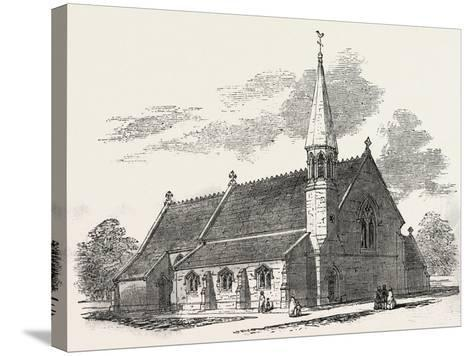 New Church, at Lambourne Woodlands, Berkshire, UK, 1851--Stretched Canvas Print