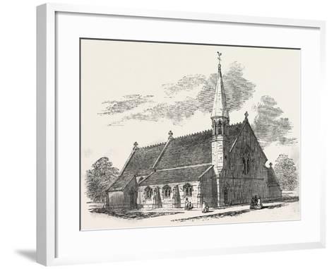 New Church, at Lambourne Woodlands, Berkshire, UK, 1851--Framed Art Print
