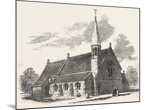 New Church, at Lambourne Woodlands, Berkshire, UK, 1851--Mounted Giclee Print