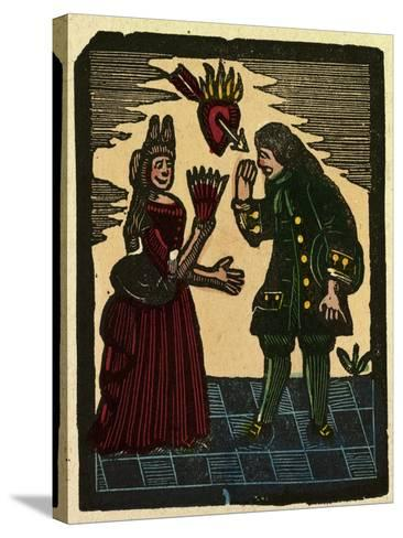 Illustration of English Tales Folk Tales and Ballads--Stretched Canvas Print