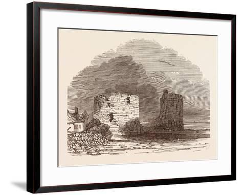 Remains of Flint Castle, Located in Flint, Flintshire, UK--Framed Art Print