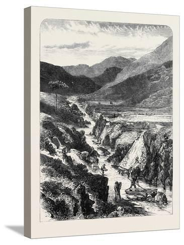 The Sutherlandshire Gold Diggings: Kildonan Burn 1869--Stretched Canvas Print