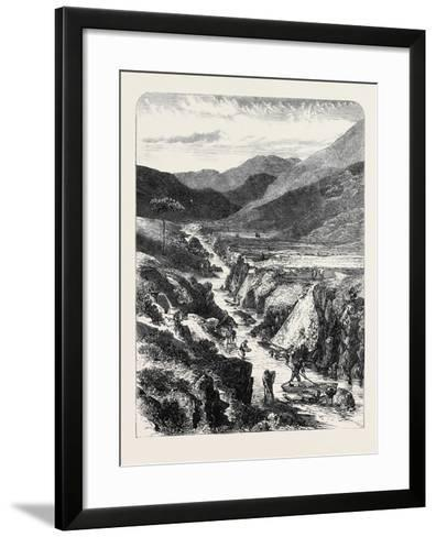 The Sutherlandshire Gold Diggings: Kildonan Burn 1869--Framed Art Print