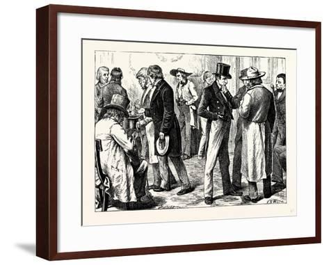Charles Dickens American Notes 1842 in the White House--Framed Art Print