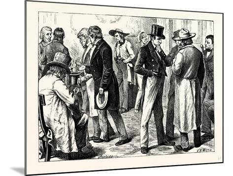 Charles Dickens American Notes 1842 in the White House--Mounted Giclee Print