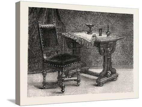 Chair and Table for Breakfast Room, Furniture, 1882--Stretched Canvas Print