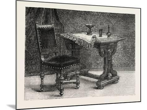 Chair and Table for Breakfast Room, Furniture, 1882--Mounted Giclee Print