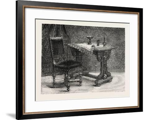 Chair and Table for Breakfast Room, Furniture, 1882--Framed Art Print