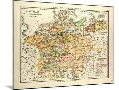 Map of Germany During the Thirty Years' War 1618 - 1648--Mounted Giclee Print
