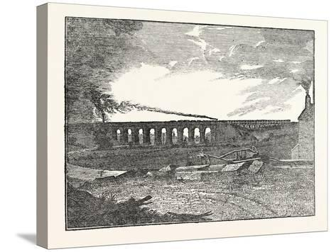 The Manchester and Liverpool Railway: Sankey Viaduct--Stretched Canvas Print