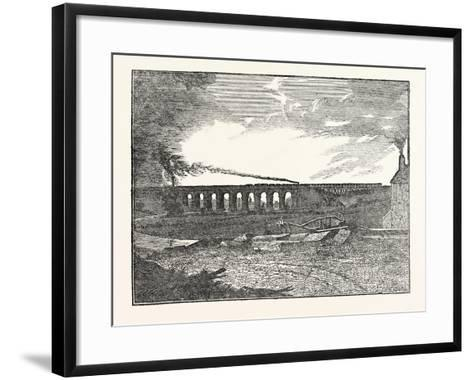 The Manchester and Liverpool Railway: Sankey Viaduct--Framed Art Print