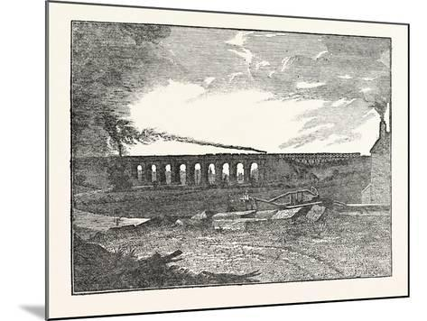 The Manchester and Liverpool Railway: Sankey Viaduct--Mounted Giclee Print