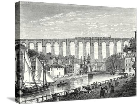The Morlaix Viaduct on the Paris to Brest Railway Line--Stretched Canvas Print