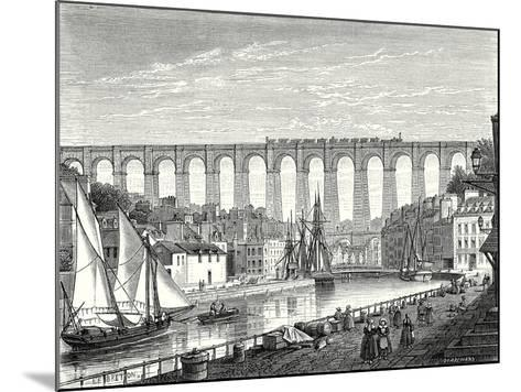 The Morlaix Viaduct on the Paris to Brest Railway Line--Mounted Giclee Print