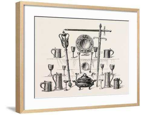 Corporation Insignia and Plate, Kingston-Upon-Hull, UK--Framed Art Print
