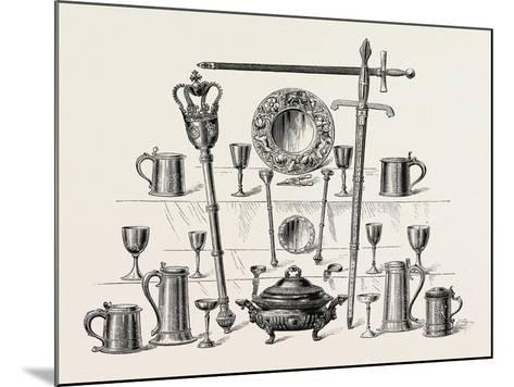 Corporation Insignia and Plate, Kingston-Upon-Hull, UK--Mounted Giclee Print