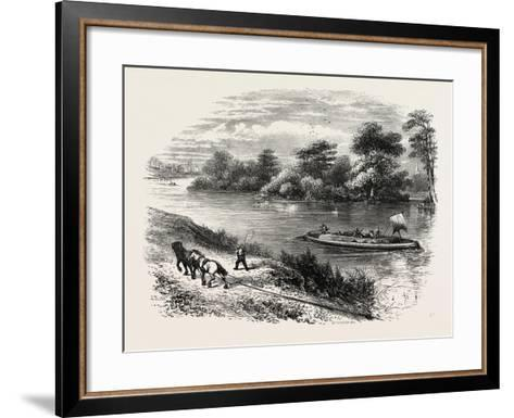 Magna Charta Island, in the River Thames, England, UK--Framed Art Print