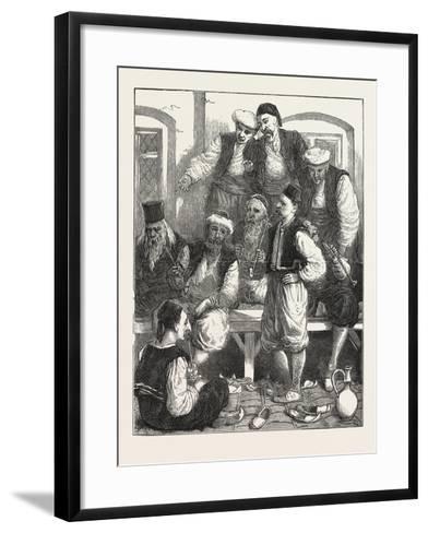 Turkish Prisoners in the Fortress, Belgrade, Serbia, 1876--Framed Art Print