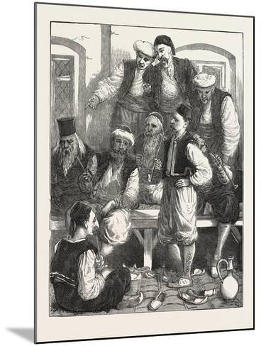 Turkish Prisoners in the Fortress, Belgrade, Serbia, 1876--Mounted Giclee Print