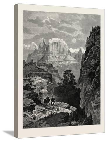 Temple of the Virgin, Mu-Koon-Tu-Weap Valley, Utah, USA--Stretched Canvas Print