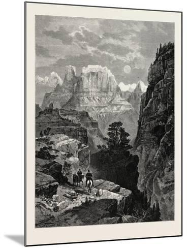 Temple of the Virgin, Mu-Koon-Tu-Weap Valley, Utah, USA--Mounted Giclee Print