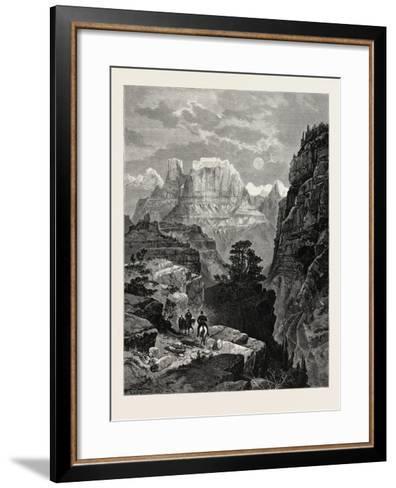 Temple of the Virgin, Mu-Koon-Tu-Weap Valley, Utah, USA--Framed Art Print