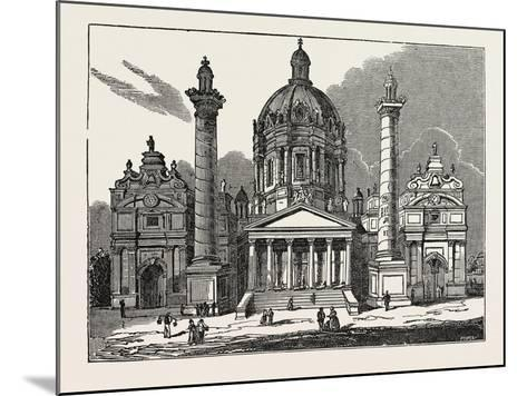 The Church of St. Charles Borromaeus in Vienna, Austria--Mounted Giclee Print