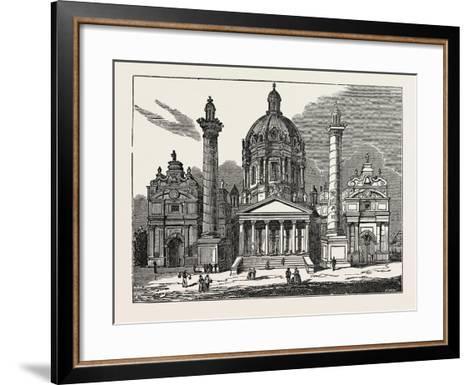 The Church of St. Charles Borromaeus in Vienna, Austria--Framed Art Print