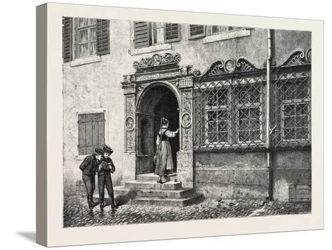 An Old House at Constance, Konstanz, Germany, 19th Century--Stretched Canvas Print